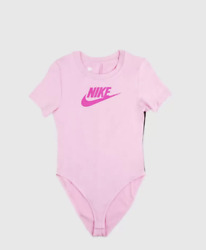 NIKE WOMEN SPORTSWEAR HERTIAGE S S BODY SUIT Tight Fit Pink CJ2355 629 SIZE M $29.99