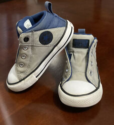 Converse Chuck Taylor All Star Boys Toddler Slip On Sneakers Blue Gray Size 7 $15.99