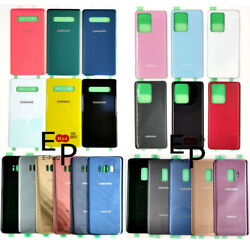 Battery Door Back Glass Cover Replacement For Samsung Galaxy S7 S8 S9 S10 S20 $8.54