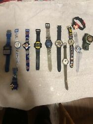 Mickey Mouse LOT Of 12 WATCHEs Free Shipping $39.00
