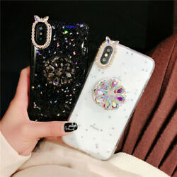 iPhone 12 11 Pro Max 12 Case With Holder Stand Star Diamond Bling Crystal Cover $8.16