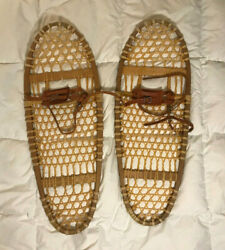 Traditional Wooden SNOWSHOES Bear Paw Style 13quot;X36quot; $122.00