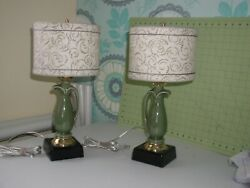 Deco style pair lamps these art deco style ceramic lamps in perfect condition $80.00