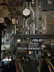 Asus PRIME B350M A AMD DDR4 AM4 M.2 600 Micro ATX Motherboard With I O Shield $60.00