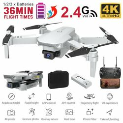 Pro WIFI FPV Quadcopter With Fordable HD 4K Wide Angle Camera Drone RC W Battery $51.99