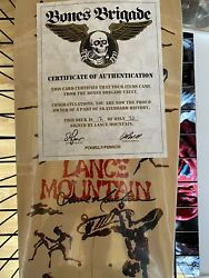Lance Mountain BLEM Signed #12 Of 20 Bones Brigade Autographed Powell Peralta $875.00