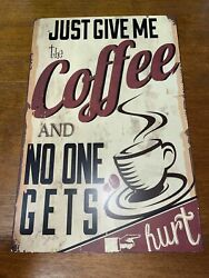 Coffee Themed Antique Looking Metal Wall Hanging $5.00