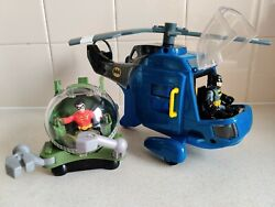 Imaginext Blue Batman Helicopter Robin Mini Sub and Figures 🚁 GBP 39.95