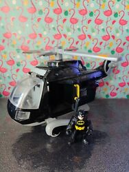 Imaginext Black Batman Helicopter and Figure 🚁 GBP 24.95
