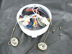 #12 Used Hampton Bay Ceiling Fan Switch Case Housing w Switches Capacitor Parts $34.99