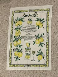 Limoncello Recipe Tea Towel Italian Decor Capri Lemon Kitchen Decor $29.99