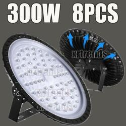 8X 300W UFO LED High Bay Light Shop Lights Bulb Warehouse Commercial Lighting