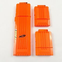 Nerf N Strike 18 Round amp; 2 Shorts Ammo Replacement Magazine Clips Lot Of 3 $9.99