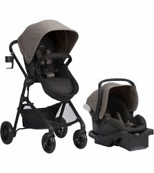 Baby Stroller with Car Seat Evenflo Pivot Modular Travel System Tan $329.00