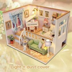 Doll House Miniature DIY Dollhouse With Furniture Wooden House Stars Sky Toys $40.99