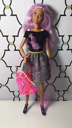 Barbie Skirt amp; Top With Clear Pink Vinyl Purse Outfit Clothes $12.99