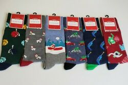 Holiday Time CHRISTMAS Novelty Knee High Crew Socks Lot x6 sz 6 12 NEW Narwhal $19.99