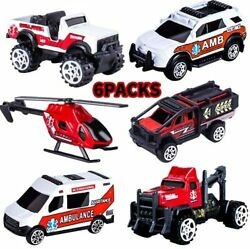 Pack Alloy Metal Ambulance Vehicles Cars Helicopter Toys for Kids Age 3 4 5 6 $26.85