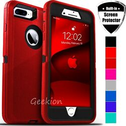 For iPhone 6 7 8 Plus SE 2020 Shockproof Rugged Case Cover Screen Protector $7.98