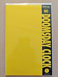 DOOMSDAY CLOCK 12 of 12 YELLOW BLANK FOR SKETCH VARIANT NM WATCHMEN FINAL ISSUE $6.99