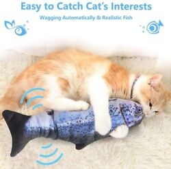 Realistic Interactive Cat Toy Electric Flipping Fish Dancing Cat Kicker Pet Gift $10.48