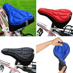 Padded Bike Seat Cover For Mountain Bike GEL SILICON RED BLUE BLACK YELLOW $5.99