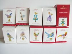 10X HALLMARK 12 DAYS OF CHRISTMAS ORNAMENTS NEW IN BOXES 2011 2020 $274.00