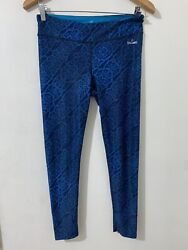 SPALDING LEGGINGS PANTS Activewear Dark Blue MEDIUM VERY GOOD FROM USA $12.99