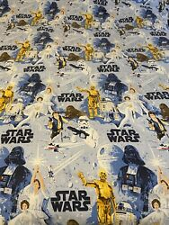 Pottery Barn Kids Star Wars 2 Twin Flat Sheets and 2 Standard Pillow Cases $38.98