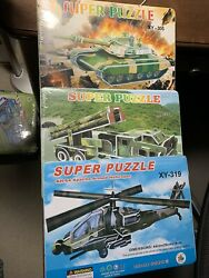 AH 64 Apache Armed Helicopter Super Puzzle XY 319 2 Bonus Puzzles $20.00