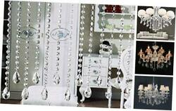 VOVOV 16 Pack 20quot; Hanging Crystals for Chandeliers Clear Teardrop Crystal Parts $25.95