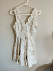 Women#x27;s Formal Ivory Lace Dress Size Small Bridal Shower Cocktail Party $6.00