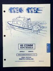 1995 OMC Johnson Evinrude Commercial Rope 65 HP Outboard Parts Catalog 437484