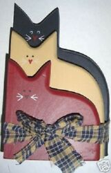 Americana Patriotic stack of Cats Rustic Country home $8.79