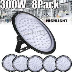 8X 300W UFO LED High Bay Light Shop Lights Warehouse Commercial Lighting Lamp