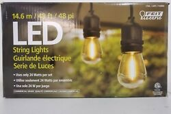Feit Electric LED 48 FT LED String Lights Outdoor Use Commercial Grade 24 Watts