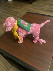 Victoria#x27;s Secret Pink collectible dog pink green cape lingerie RARE Phi Beta $79.95