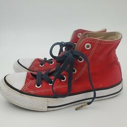 Converse All Star Boys Girls Red High Top Sneakers Shoes Youth Sz 1 Chuck Taylor $13.99