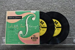 David Rose amp; His Orchestra Holiday For Strings MGM Records 2x7quot; Album EP 1953 $5.95