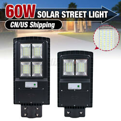 60W 14000LM Commercial LED Solar Street Light Motion Sensor Dusk to Dawn Garde