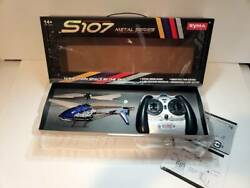 Syma S107G RC Helicopter 3CH 3.5CH Mini Remote Control Helicopter with Gyro Blue $23.99
