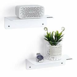 Acrylic Floating Shelves for Wall Set of 2 Easily Expand Wall Space 2 $23.07