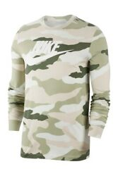 Nike Camouflage Swoosh Print Long Sleeve T Shirt Men#x27;s Large XL BNWT