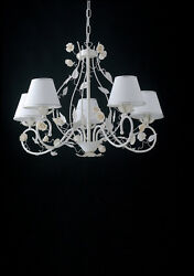 Chandelier Contemporary With Roses 5 Lights Lgt Bouquet sp5 White $428.64