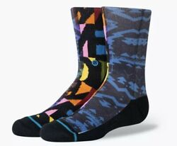 Stance Kids ALPHABET SOUP Crew Height Socks Size Large 3 5.5 Multi Color NWT $11.97