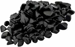 1 2 lb bulk Black Obsidian crystal wholesale tumbled polished healing stones $13.99