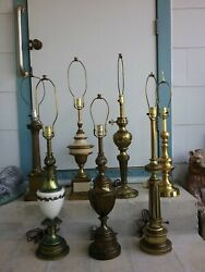 Choice of 1 Vintage Quality Brass Stiffel Lamp torchiere candlestick flame torch $65.00