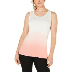 Ideology Women#x27;s Dip Dye Fitness Tank Top Pink Size Extra Small $11.38