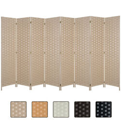 6FT Wall Room Divider Wood Screen Double Side Woven Fiber Privacy Space Seperate $118.74