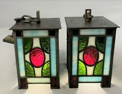 Antique Pair c1920s Tudor Twisted Hammered Cast Iron Candle Sconces Restored $375.00